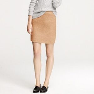 J crew factory tan wool pencil skirt size 6